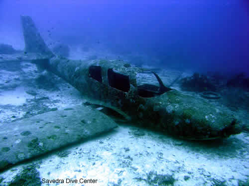 airplane wreck in moalboal